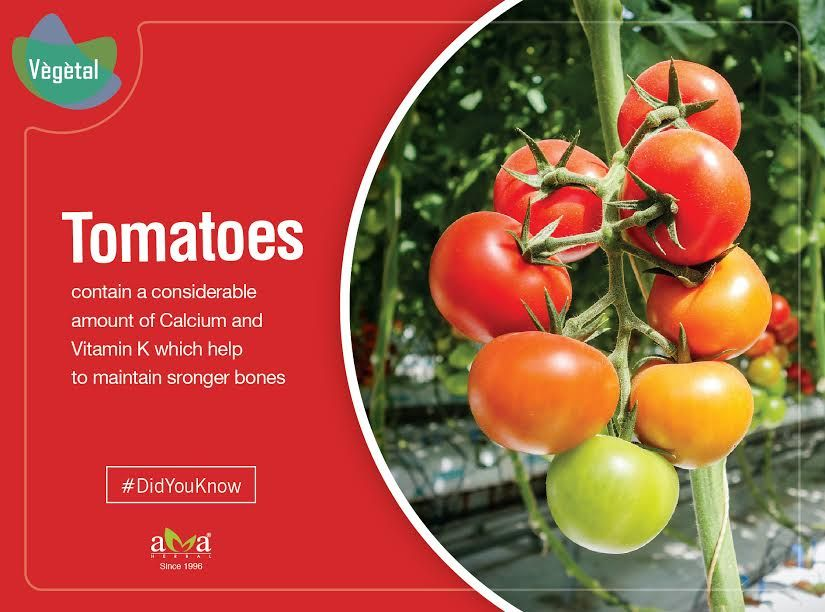 didyouknow tomatoes contain a considerable amount of calcium and vitamin k which helps to