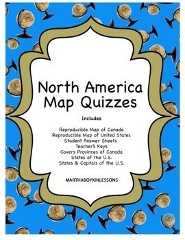 Geography US History North America Map Quiz Canada United