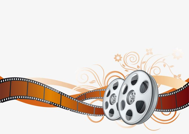 Vector Color Film Reel Movie Color Film Color Vector Film Reels