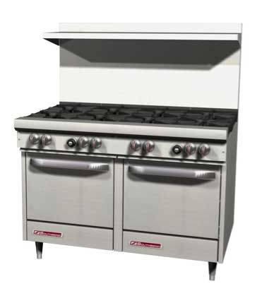 S Series Range 48 W 8 Burners S48ac Click Here For A Spec Sheet Southbend S Series Resta Commercial Ovens Oven Oven Range