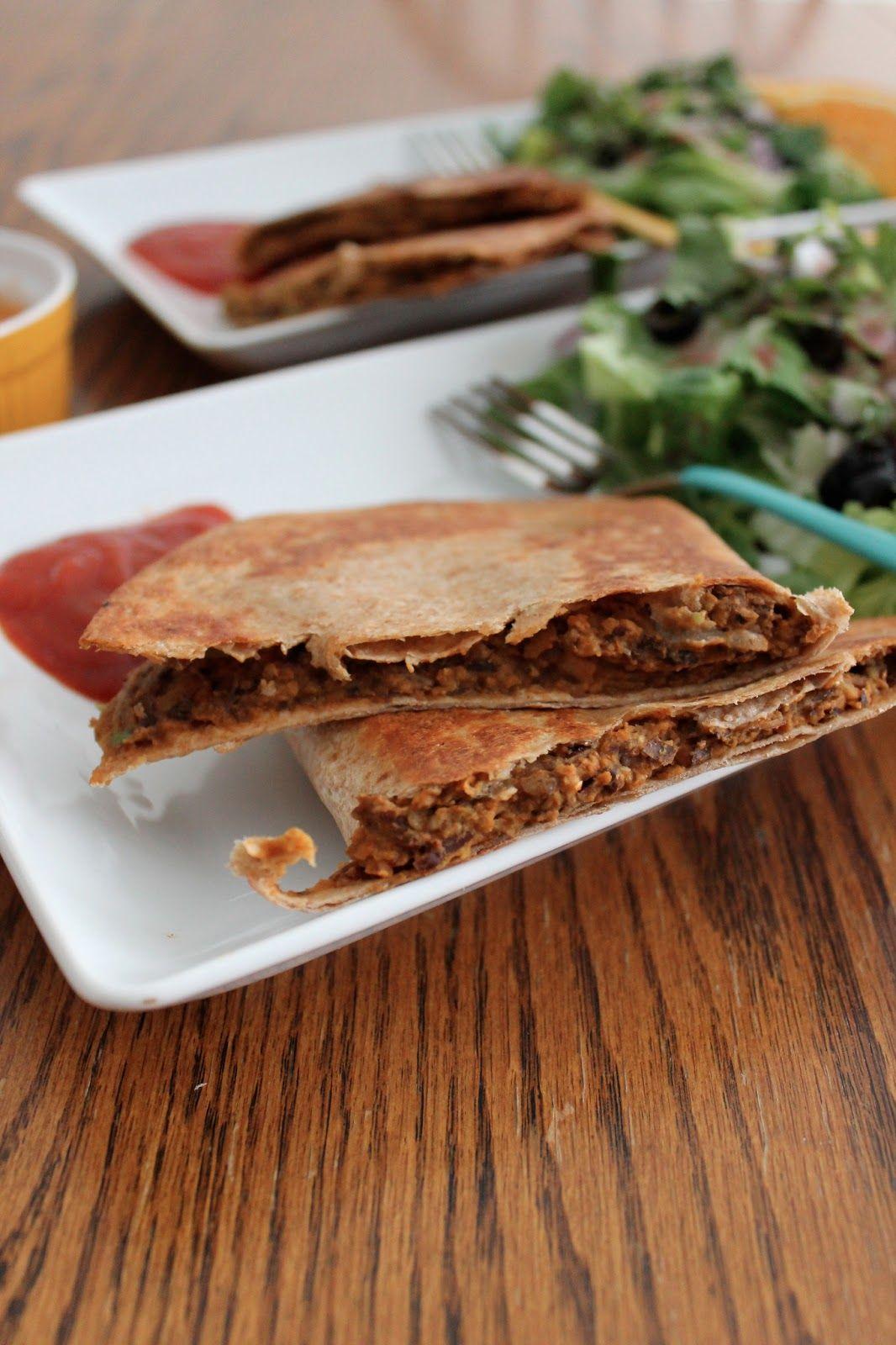 Avocado, Chorizo & Black Bean Quesadillas - flora foodie