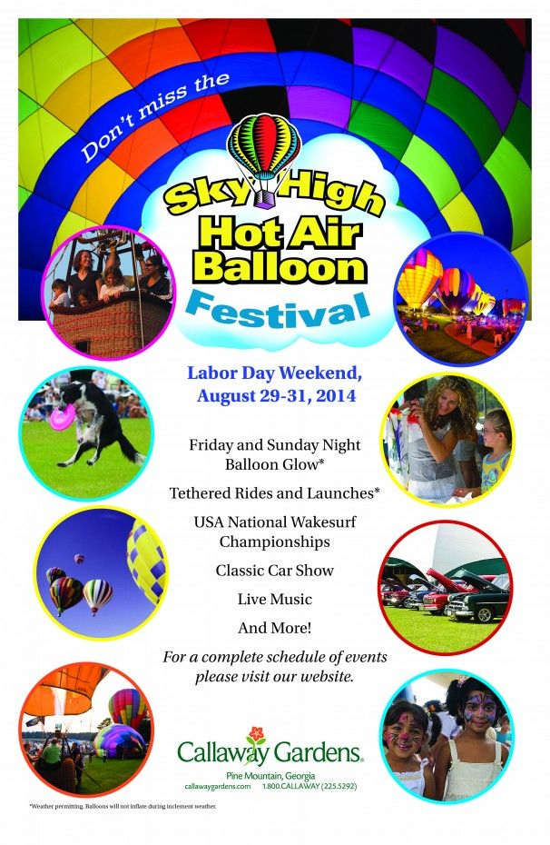 24ac37676a6643cd8123da5c0ed6be0e - Sky High Hot Air Balloon Festival Callaway Gardens