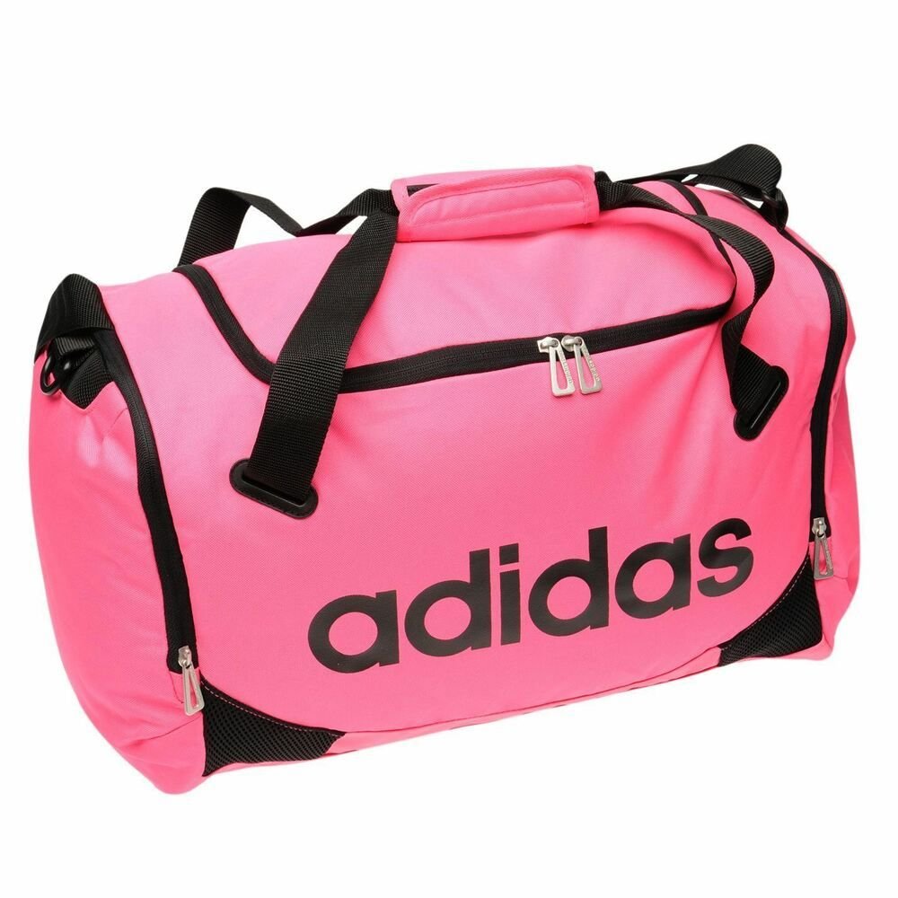 Adidas Lined Small Team Bag Pink Sports Gymbag Kitbag Fashion Clothing Shoes Accessories Unisexclothingshoesaccs Unisexaccessor Bags Team Bags Small Bags