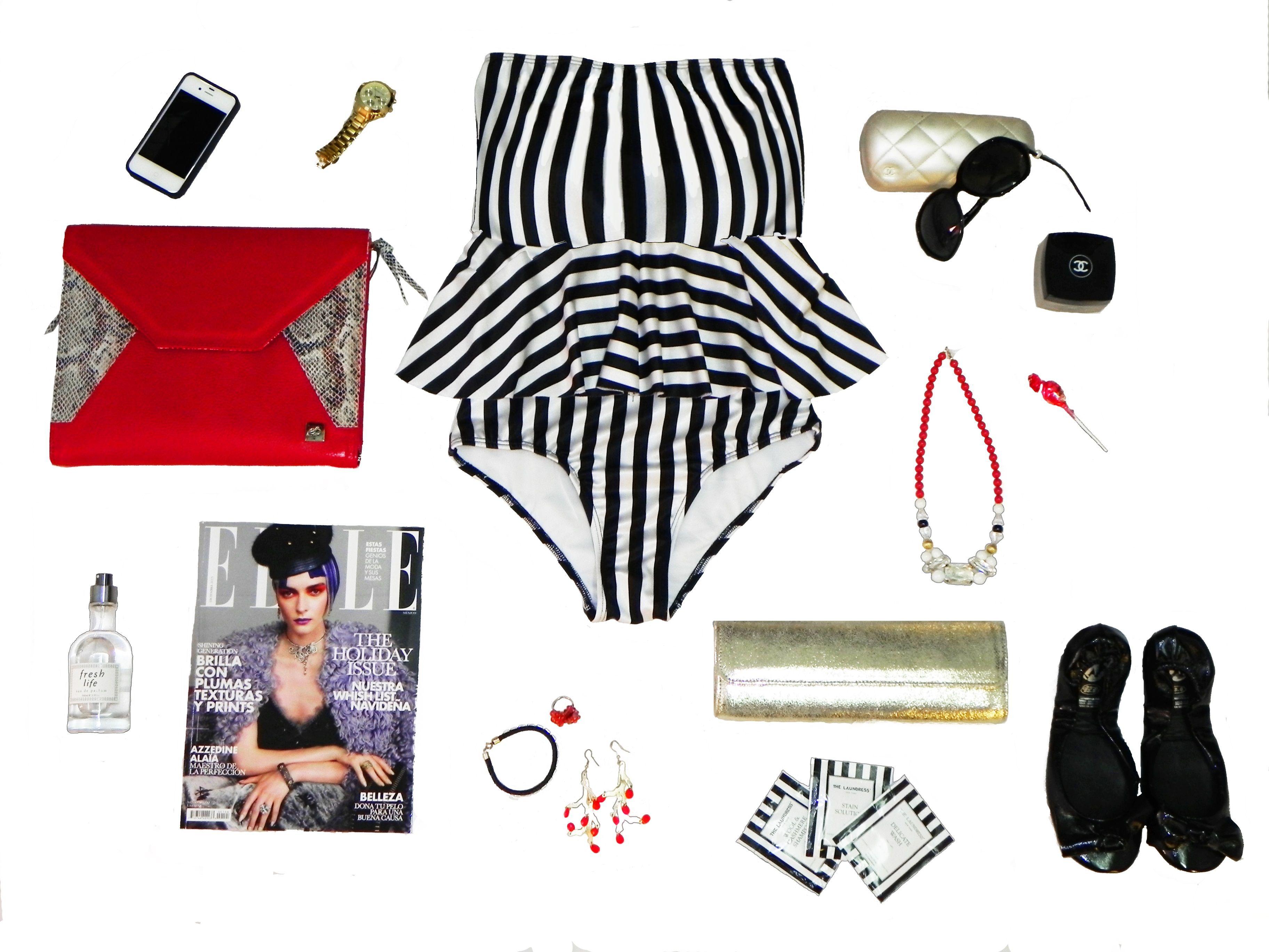 Swimsuit: Paola Amador Ipad case: Eileen Garcia Jewelry: Julio ...