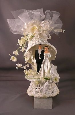 vintage wedding cake toppers ebay vintage 1950 s ornate wedding cake topper ebay wedding 21616