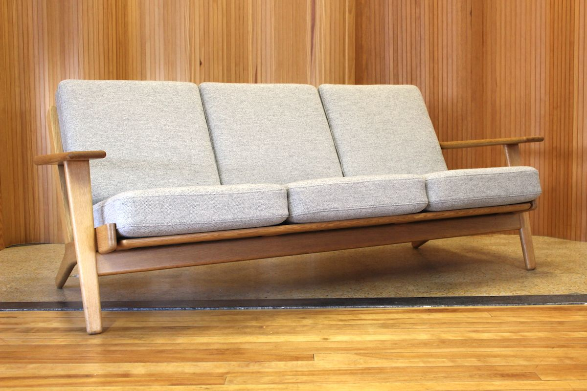 Hans Wegner Oak Plank Sofa Model Ge 290 3 Manufactured