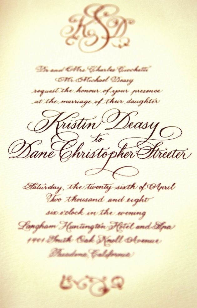 Comparing Font Styles for Invitations Wedding invitation fonts