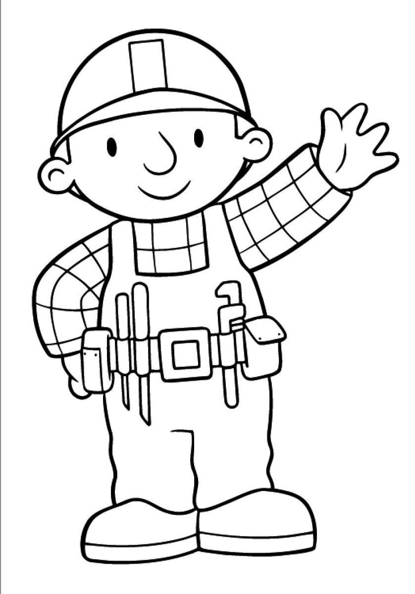 Bob The Builder Coloring Pages Bob The Builder Free To Color For Children Bob The Builder Bob The Builder Coloring Books Coloring Pages