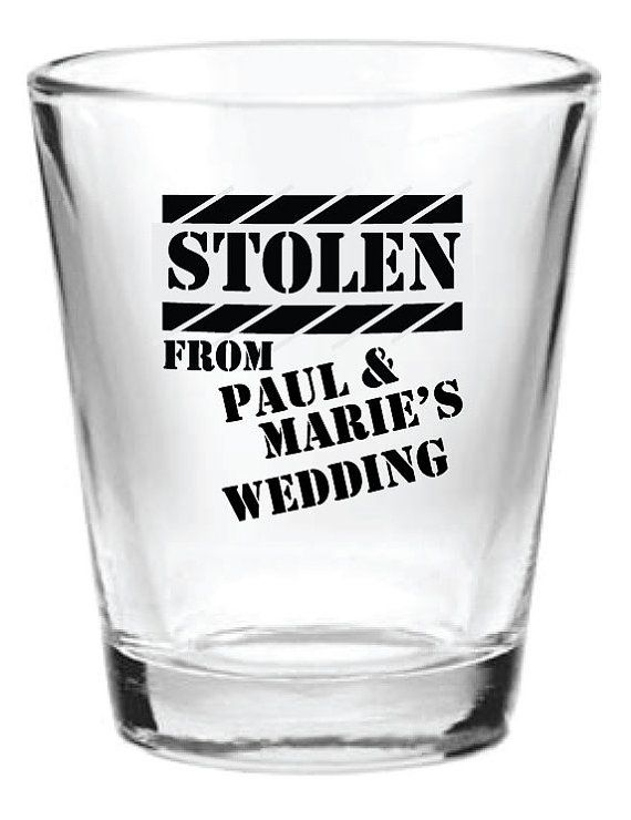 48 Personalized Wedding Favor 15oz Shot Glasses Custom Funny