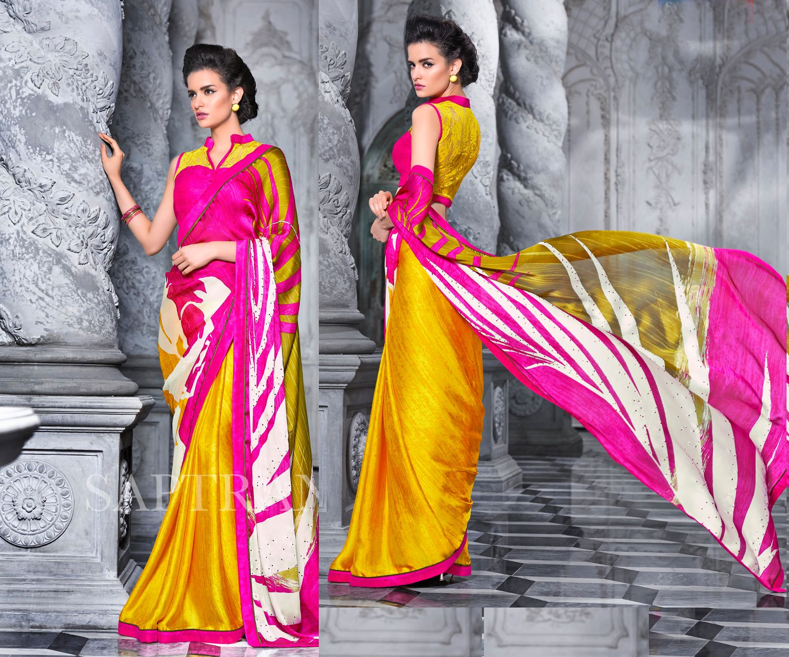 Off saree model images get  off on georgette sarees gootgefjd  saree on