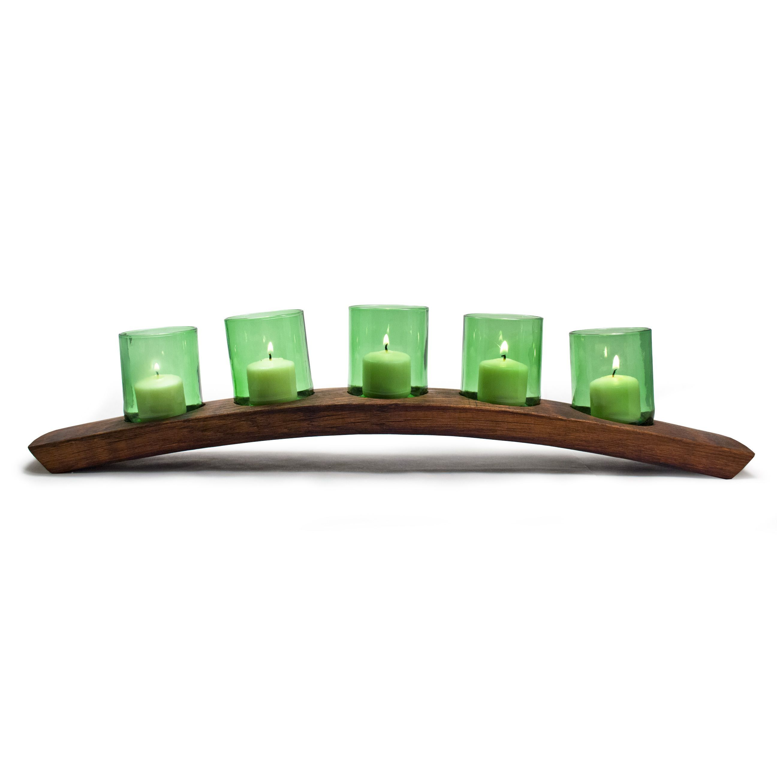 Add light to your mantle or the center of your holiday table with
