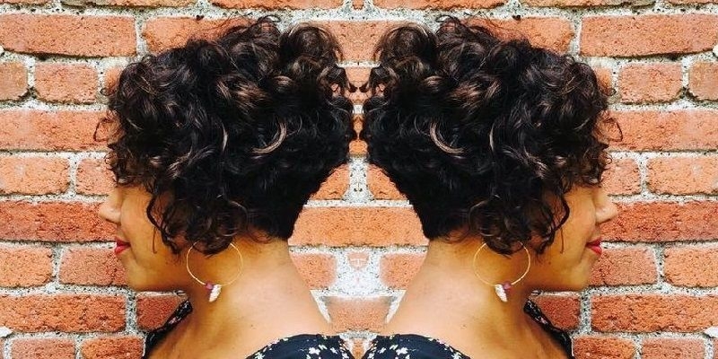 Short Curly Stacked Bob Hairstyles For Black Women Stacked Bob