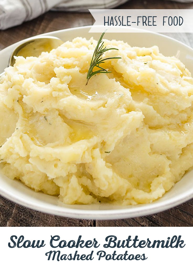 Slow Cooker Buttermilk Mashed Potatoes Recipe Food Recipes