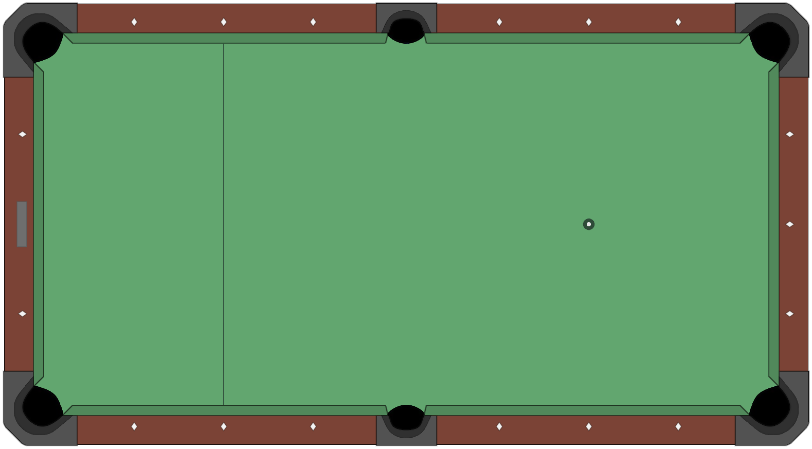 American Style Pool Table Diagram Empty Png 1579 215 873