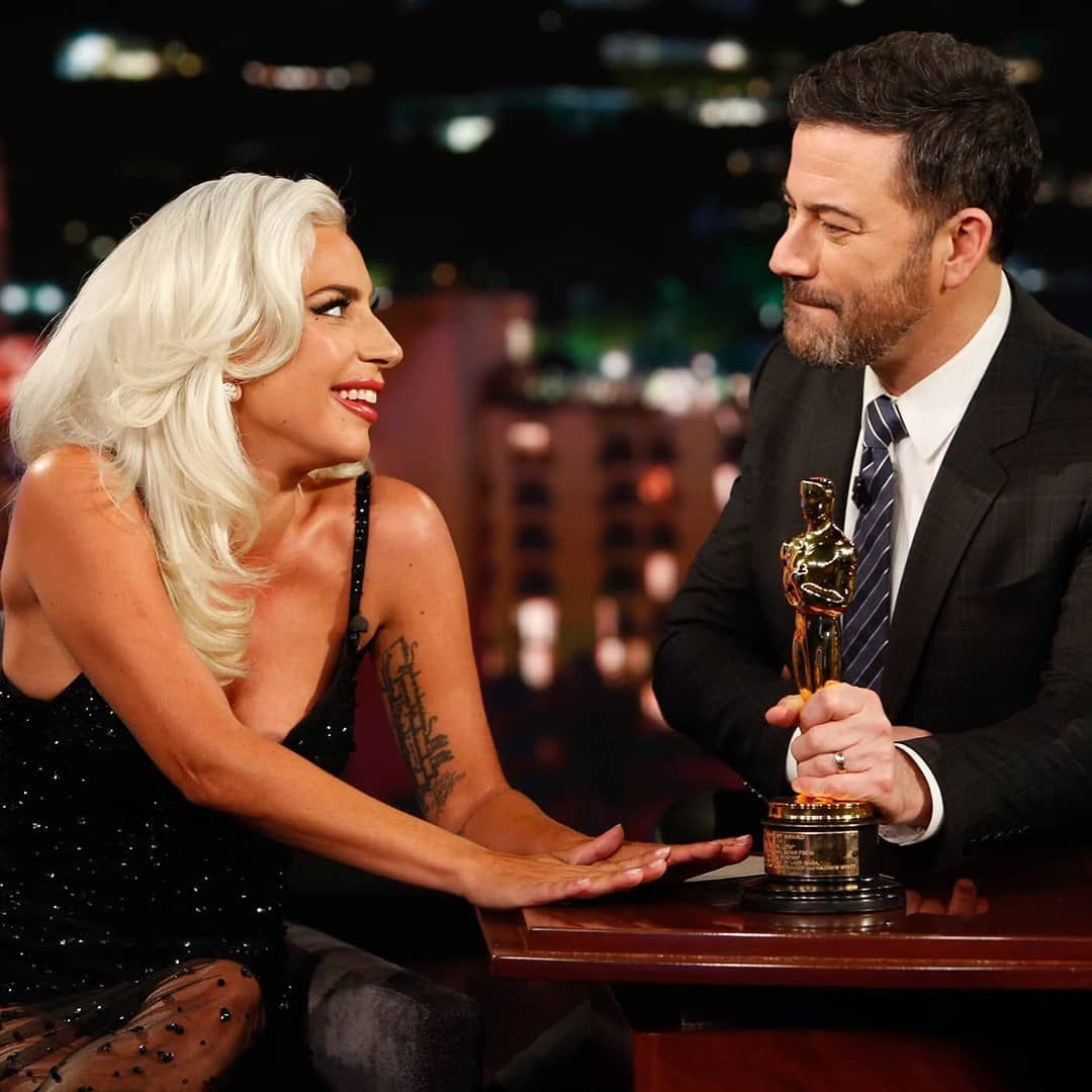 Gaga Daily On Instagram Lady Gaga Spoke About Her First Oscar Her Show Stopping Performance And Those Bradle Lady Gaga Pictures Lady Gaga Lady Gaga News