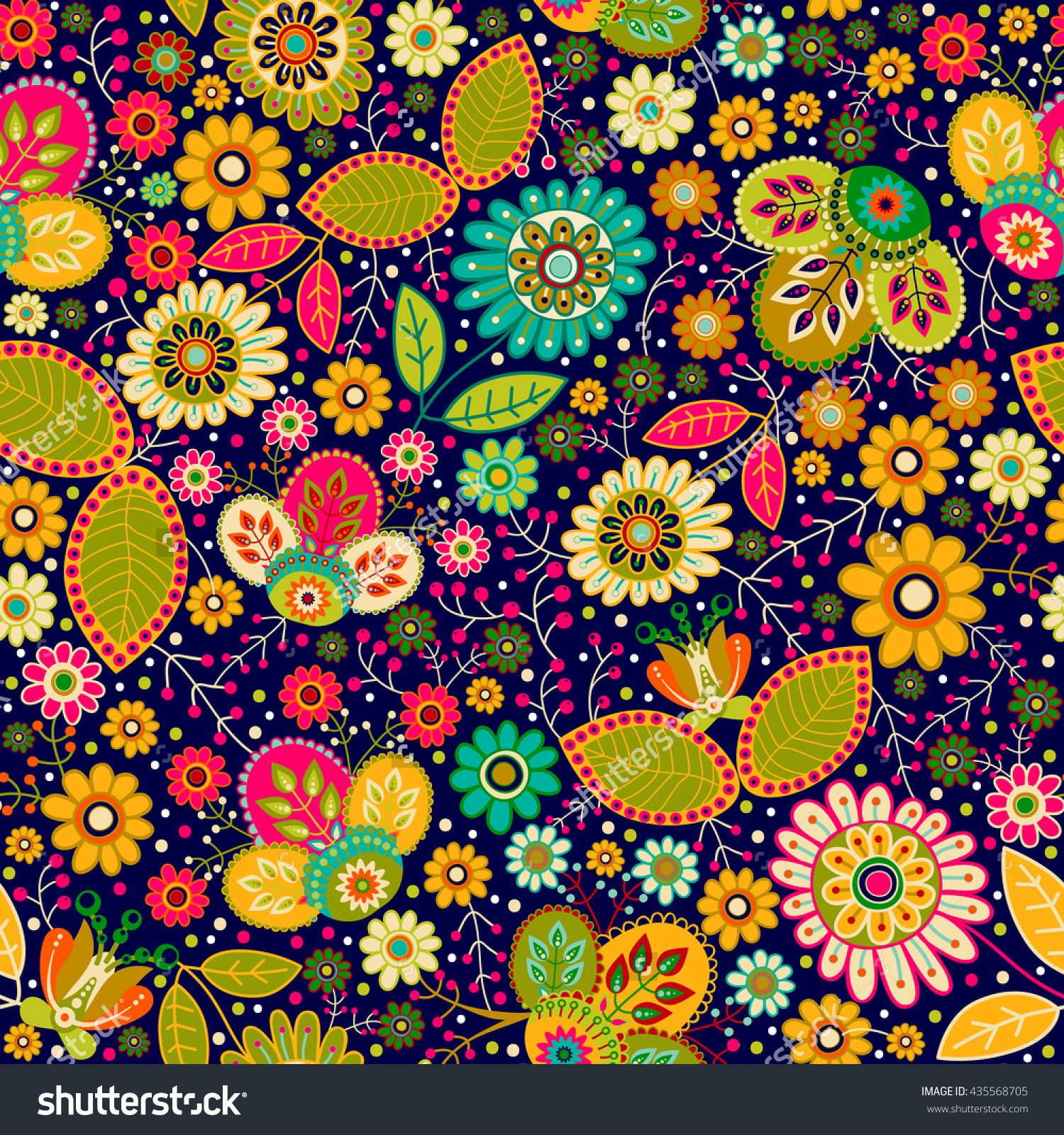 Colorful Seamless Floral Pattern Bright Summer Backdrop Flowers Wallpaper Floral Pattern Flower Wallpaper Stock Illustration