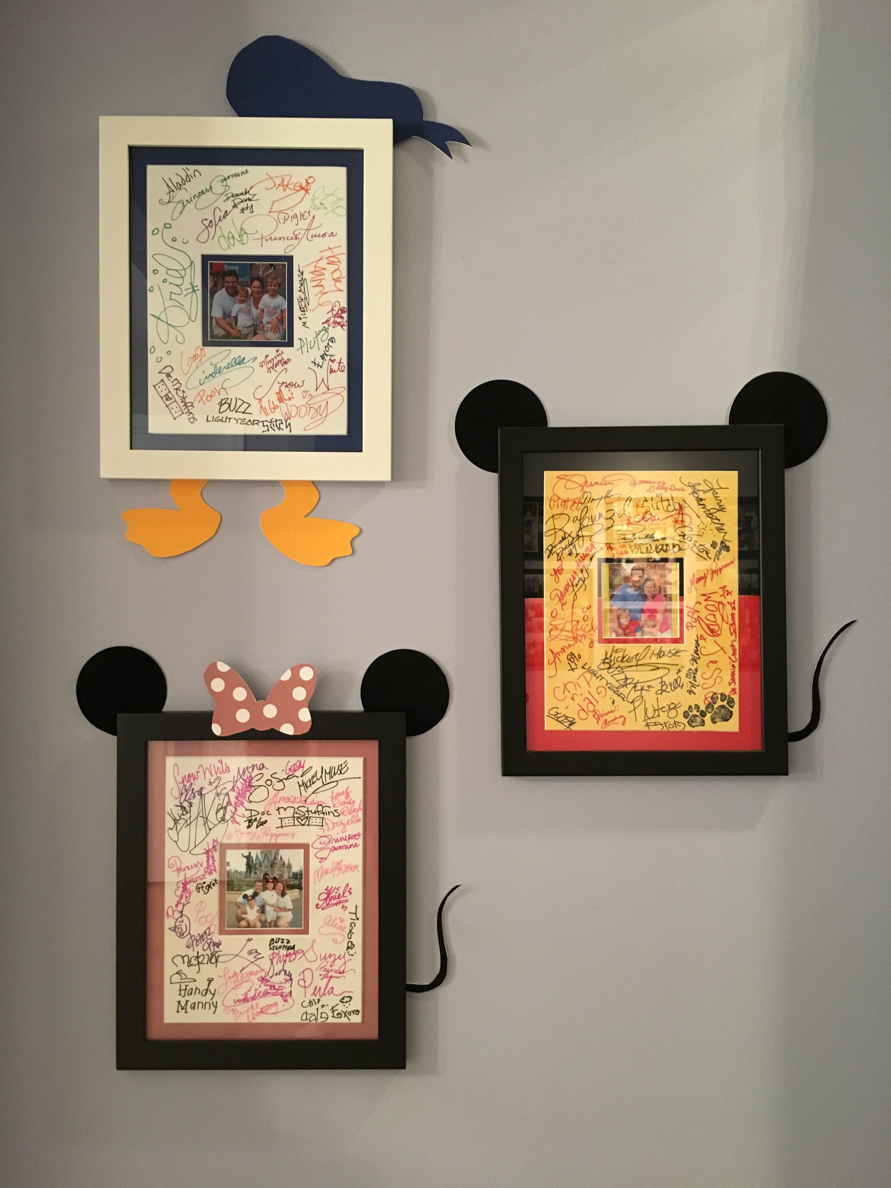 Disney character autograph signing mat frames | fun projects | Pinterest