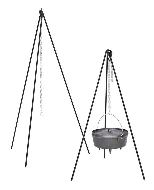 Tall Boy Tripod with Chain for Cast Iron Cookware over an