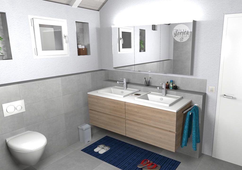 Badezimmer Unsere Badezimmerplanung Wird Immer Detaillierter Wir Experimentieren Noch Mit Den Farben Fur Das Schaftchen Und Die Platte Falls Ihr Gute Idee