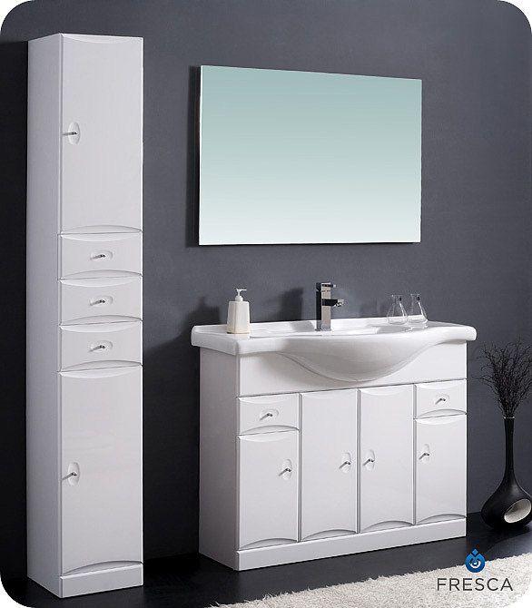 Letaro 42 inch Modern Bathroom Vanity FVN5095WH by Fresca ...