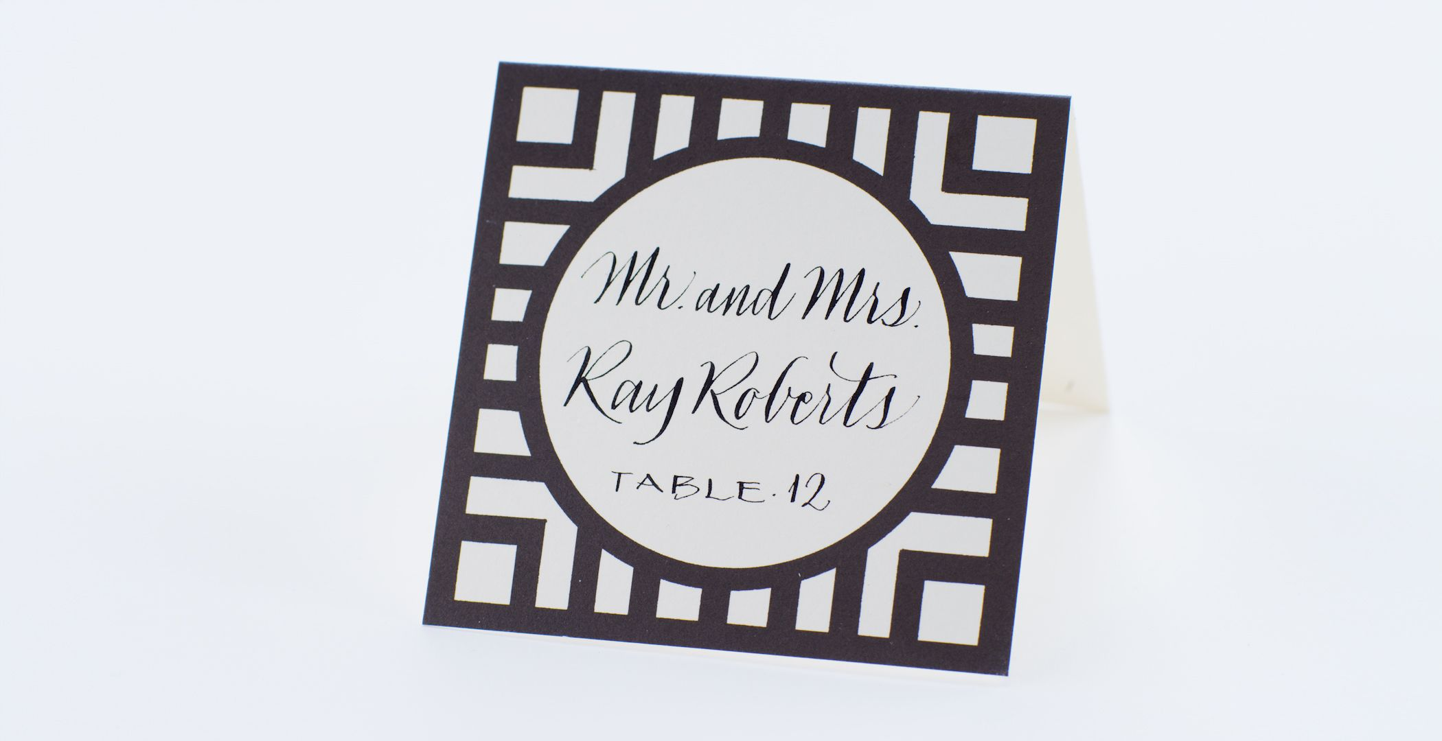 Wendelline Papers Medallion place card  Joni Script calligraphy by Wendy Ware. Available now place cards and calligraphy by Wendy Ware. Place card with calligraphy 2.70 Escort card with calligraphy 3.20