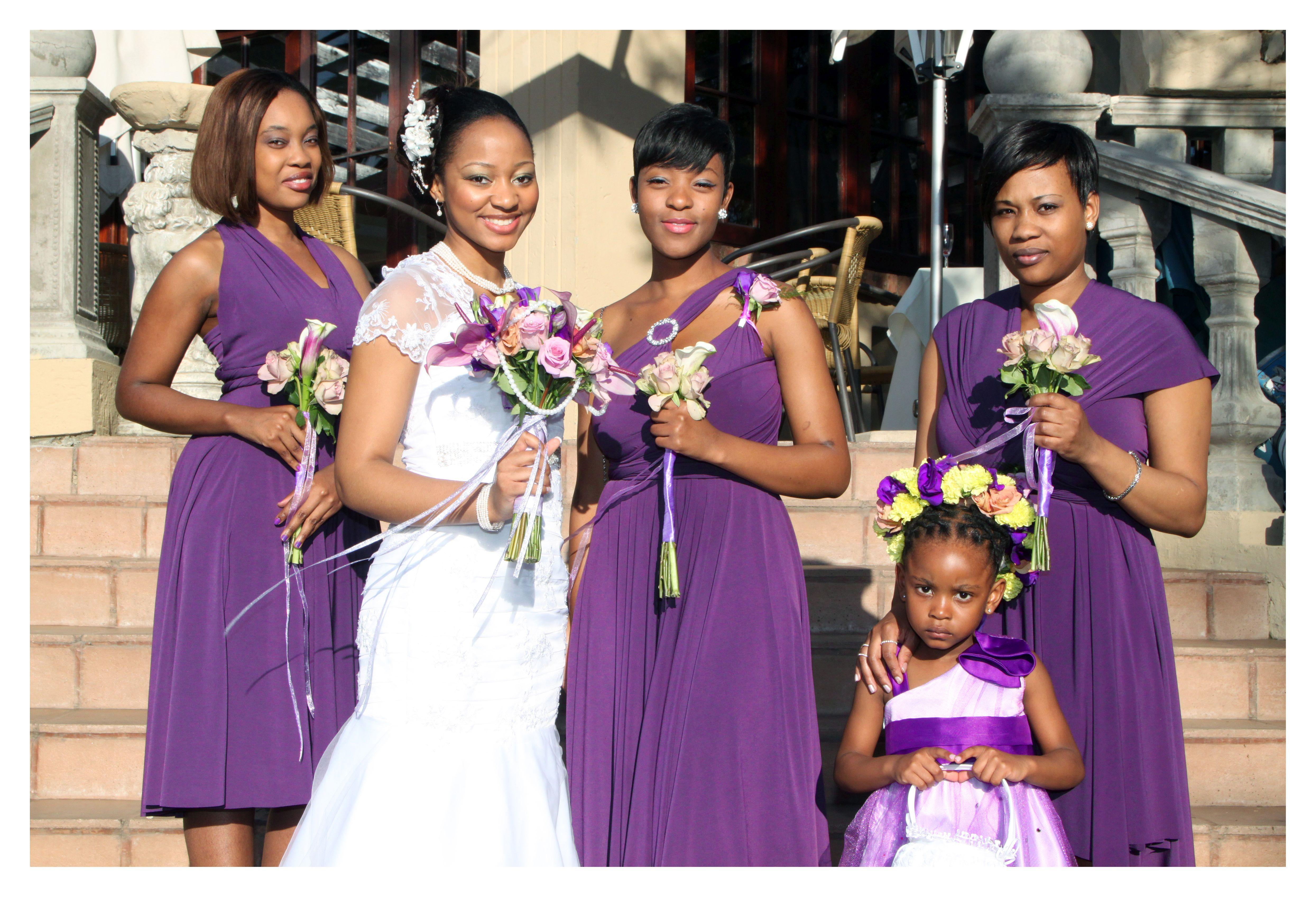 Cadbury purple Infinity bridesmaids dresses - a beautiful vibrant ...