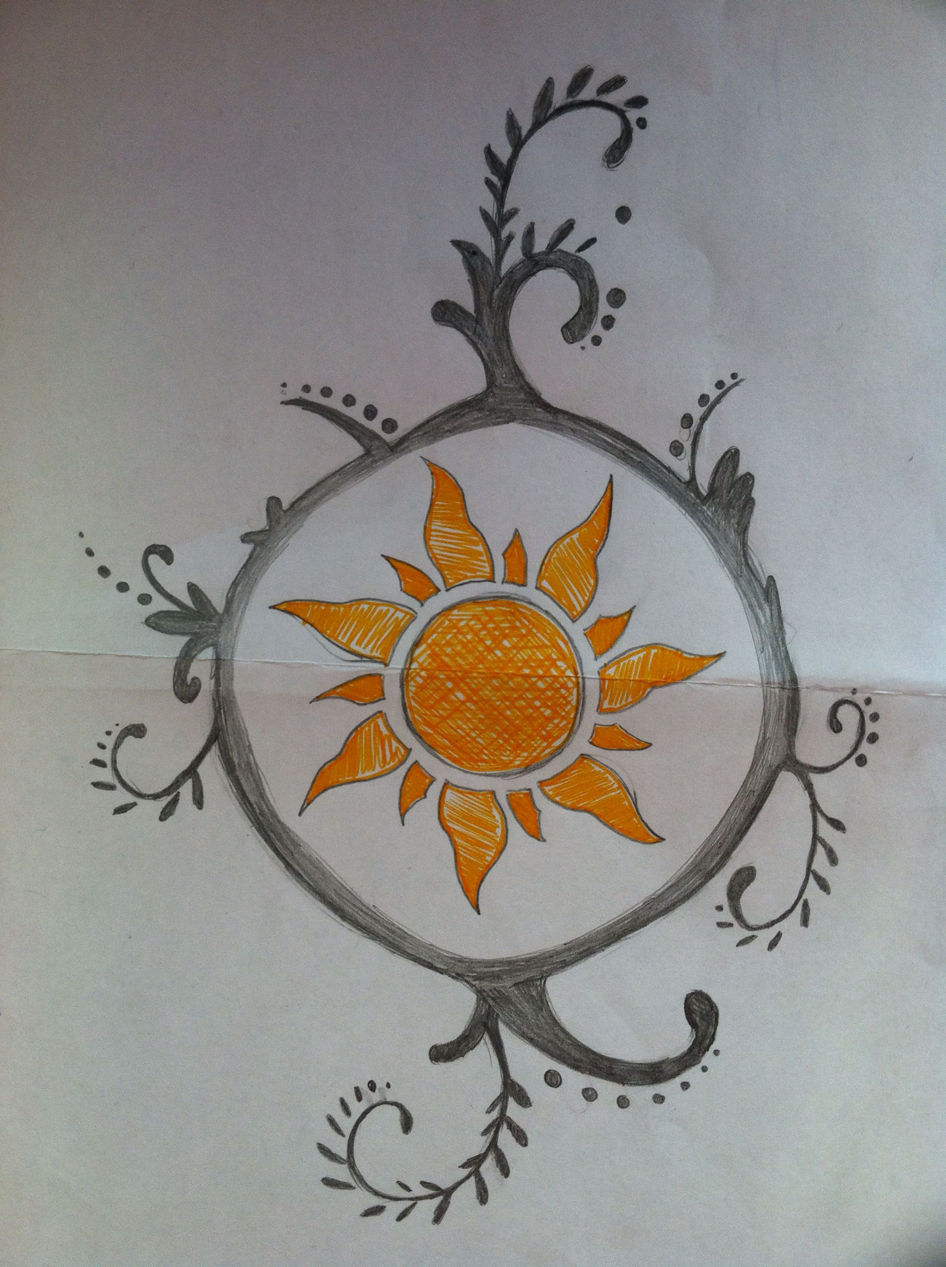 Just a little drawing I did at work.  Tattoo inspired by tangled. Credit: Jacqueline Lavallee