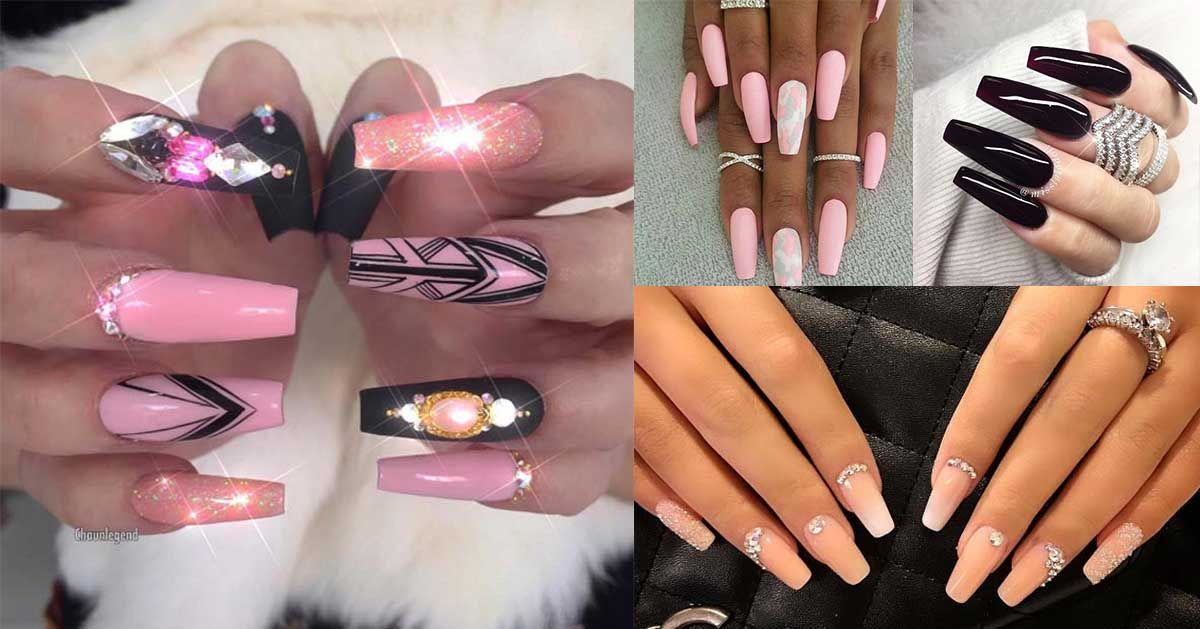 41 Nail Art Ideas For Coffin Nails The Goddess Types Of Nails