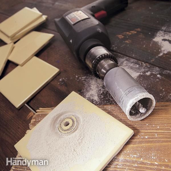 How To Cut A Hole In Tile The Family Handyman Diy Home