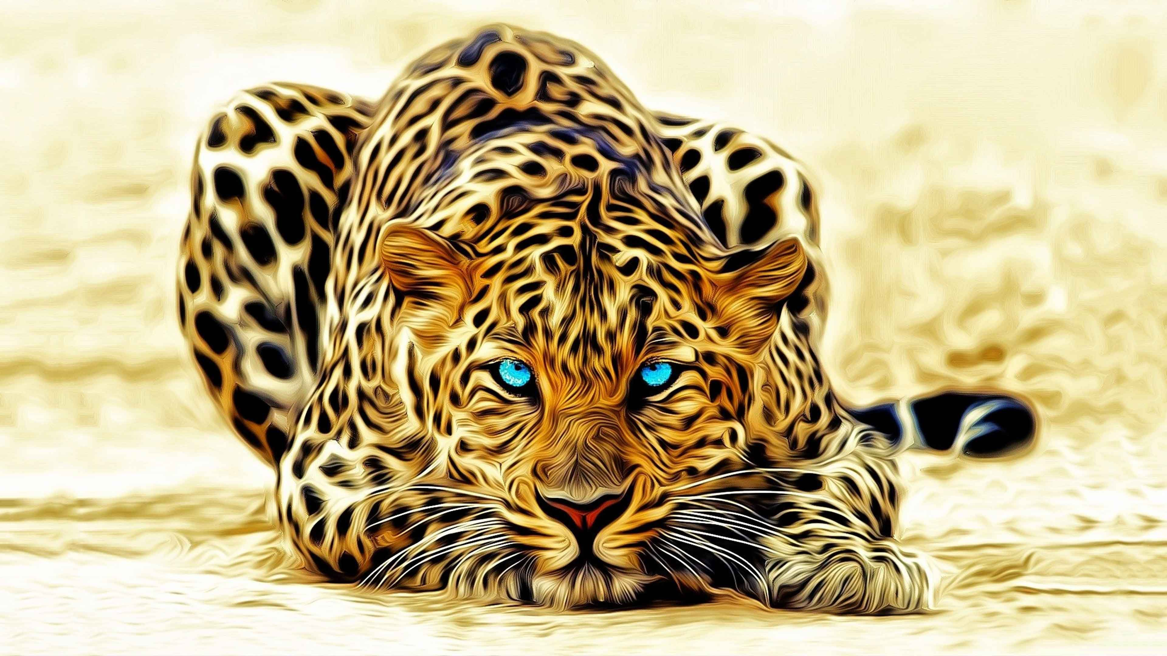 HD 3D Tiger Wallpaper Big cats art, Leopard wallpaper