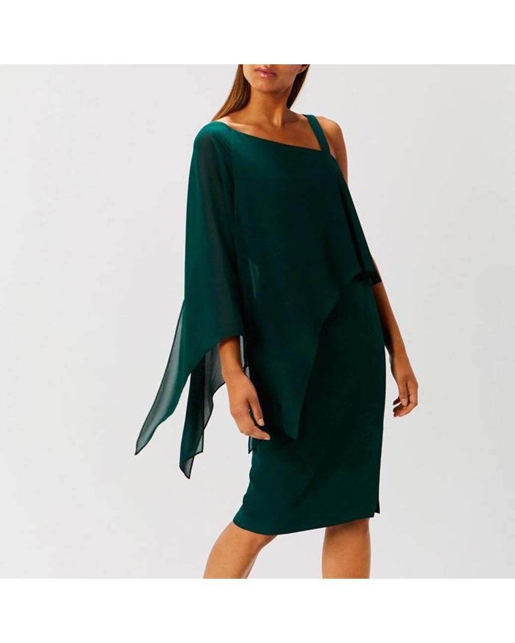 Coast   Green Rae Drape Dress   Lyst   Kleider