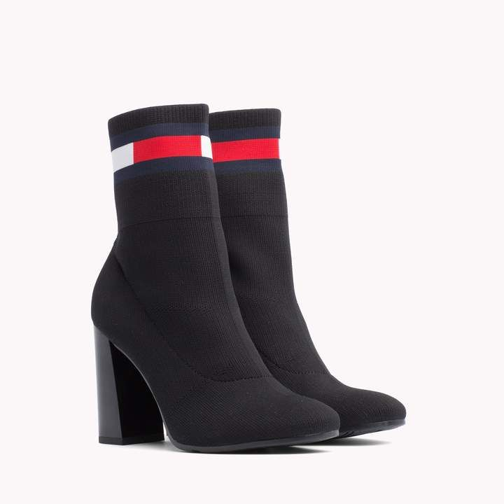 493b6eec9fb Sock Heeled Boot in 2019 | Tommy Hilfiger | Tommy hilfiger heels ...