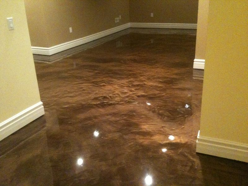 Epoxy basement floor paint ideas for Concrete floor covering ideas