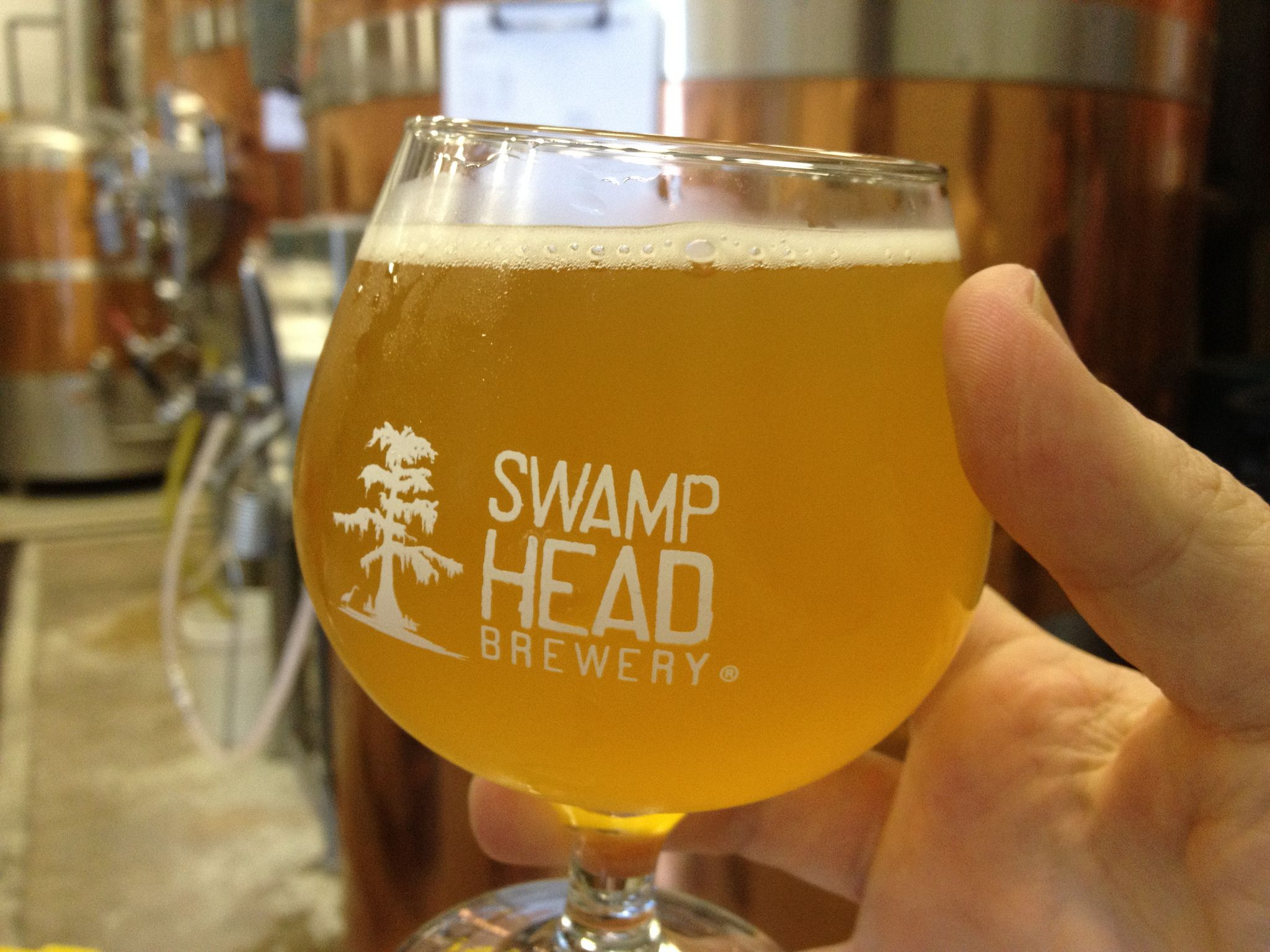 Swamp Head Brewery beer glass