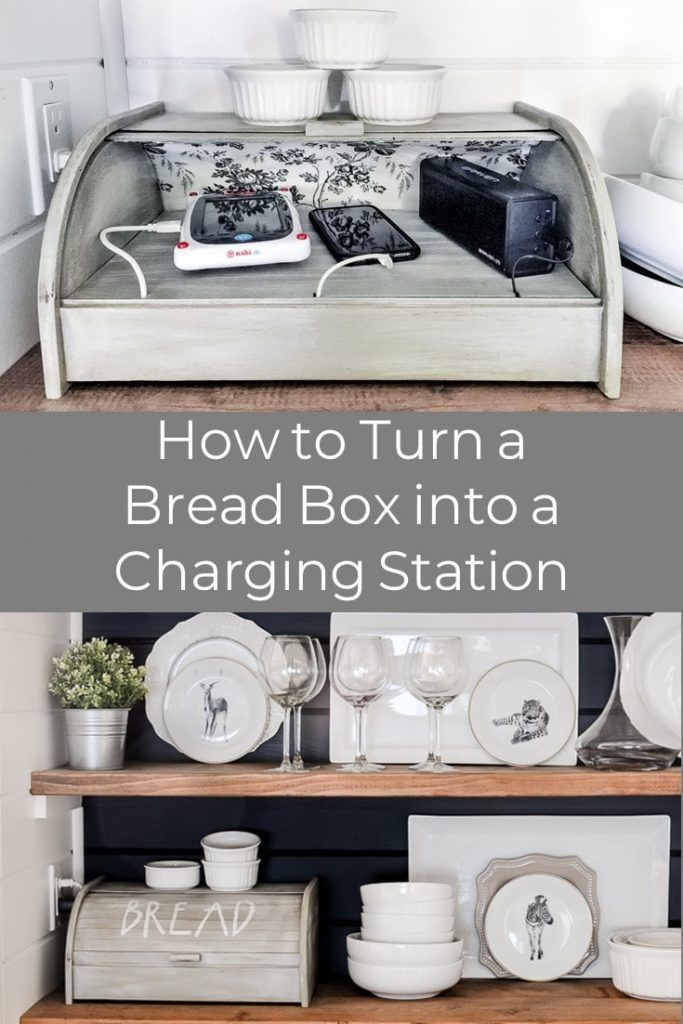 Bread Box Charging Station Diy Tutorial Kuche Diy Ideen Zum