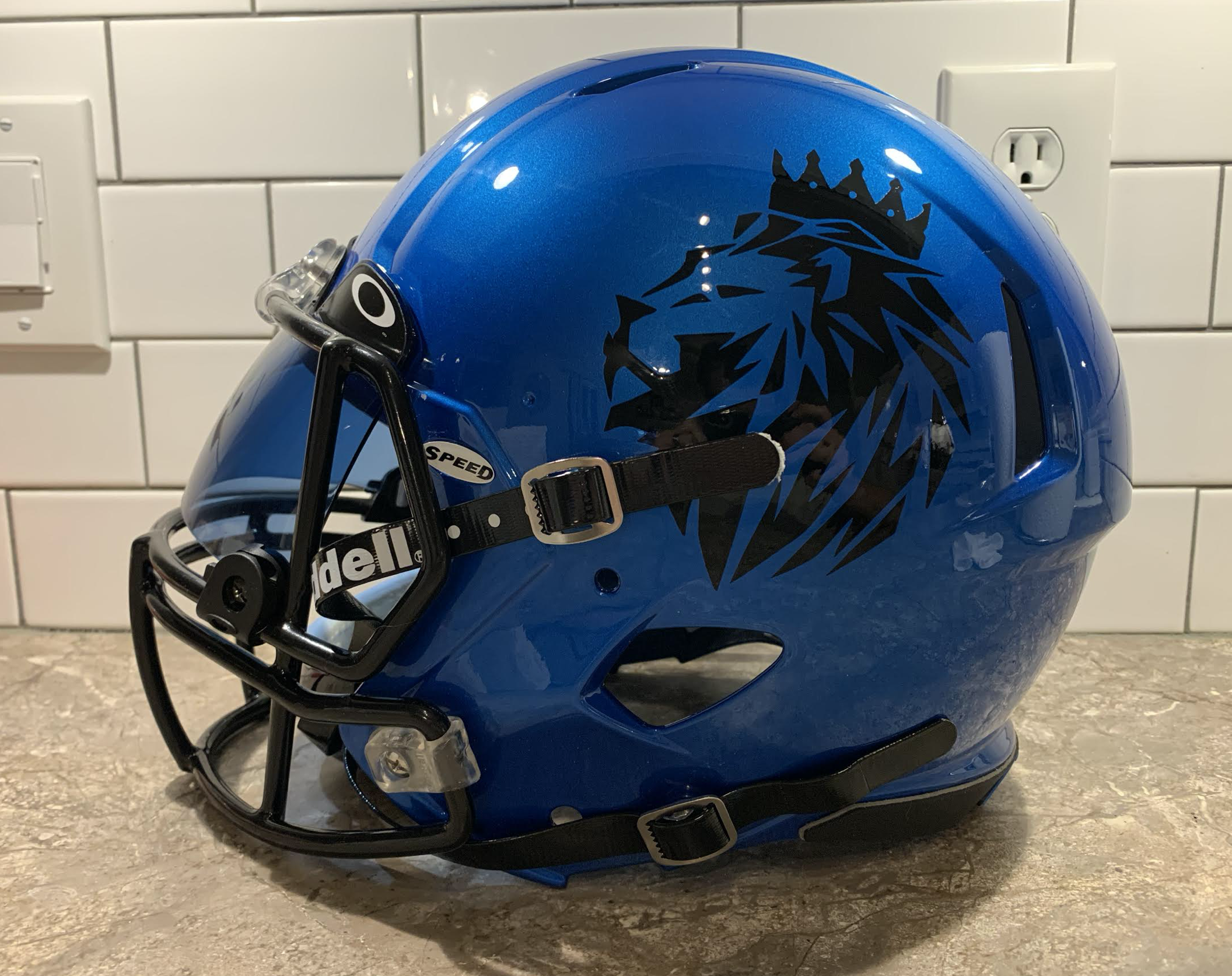 Casey S Bluehelmet College Football Uniforms Football Helmets Football Uniforms