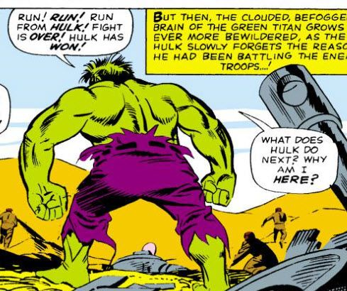 What Hulk do next? Hulk ask existential query!