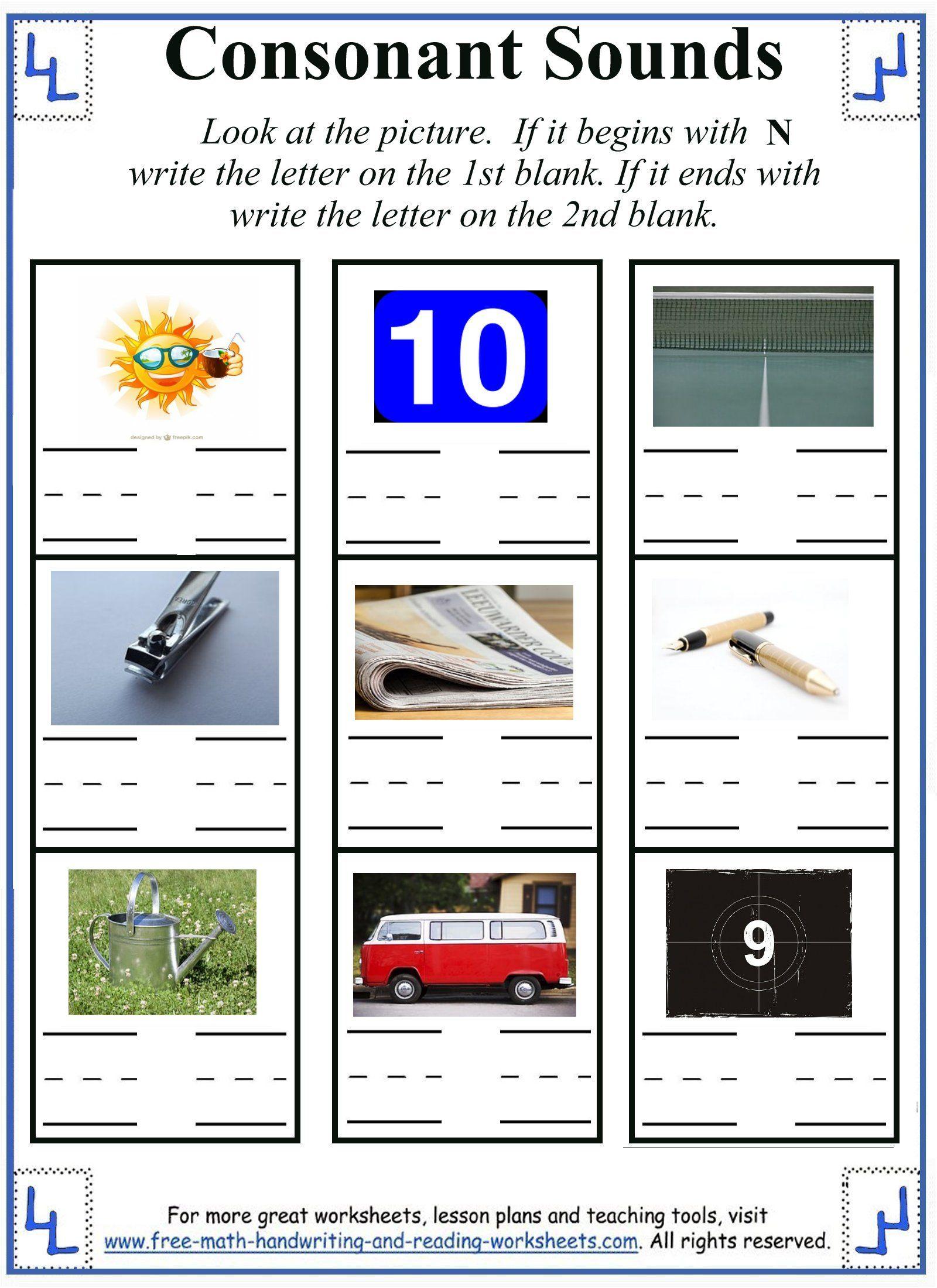 Printable Letter N Worksheets