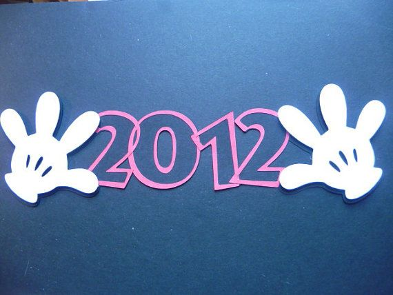 Disney Page Title With Mickey's Hands 2012 by bcerdeiros on Etsy, $1.50