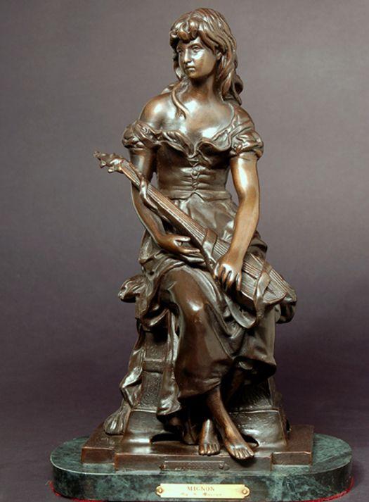 Sensible Antique Bronze Art Deco Figural Lady Dish International Sale Periods & Styles