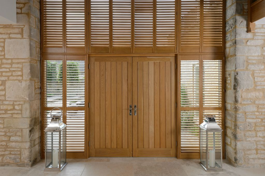 Full height tier-on-tier shutters - perfect for tall windows and large window spaces