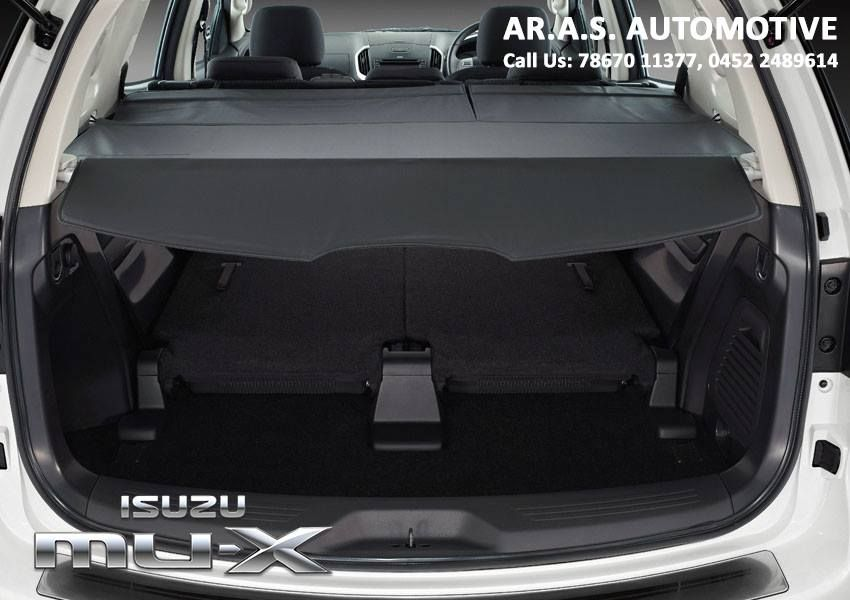 Tonneau Cover An Ideal Accessory To Protect And Discreetly Carry Your Belongings When The 3rd Row Is Folded Isuzu Mux Arasautomotive Madurai