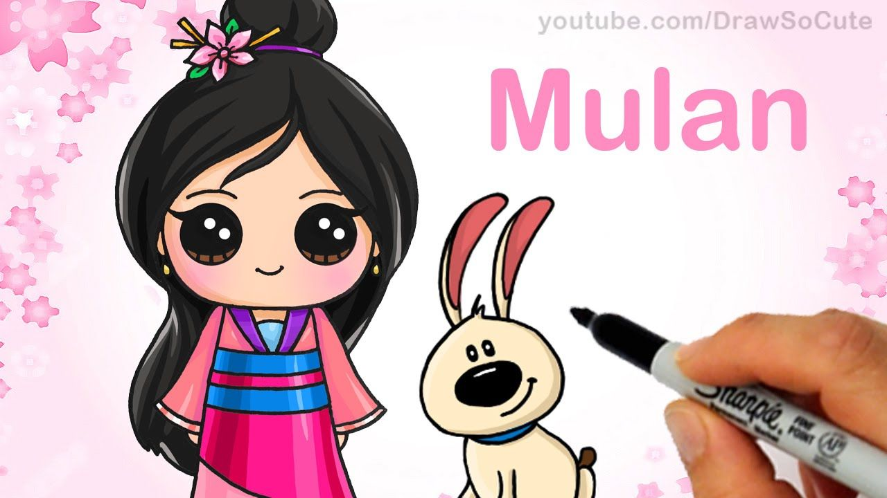 How To Draw Chibi Mulan Step By Step Cute Disney Princess Disney Princess Drawings Disney Drawings Princess Drawings
