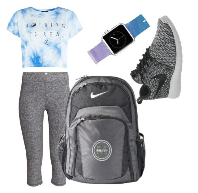 """Nike"" by magshealy ❤ liked on Polyvore featuring H&M, NIKE and Casetify"