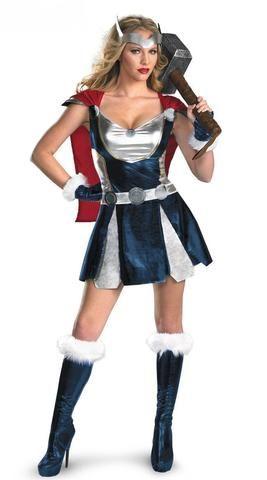 94c600020ccbcd Fantasia Mulher Thor (Somente Vestido com Capa e Ornamento da Cabeça ...