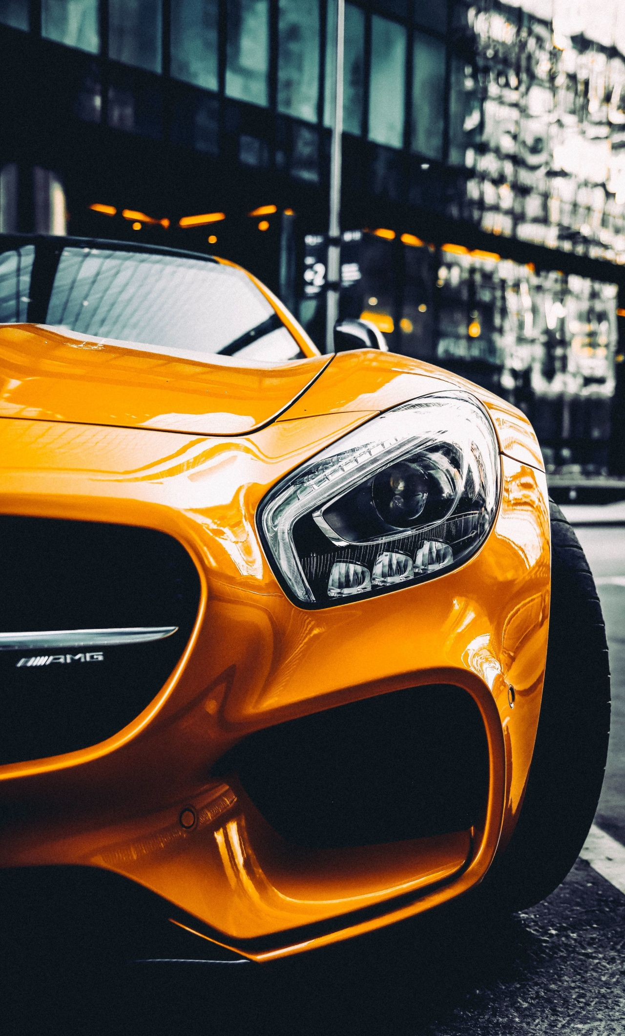 1280x2120 Yellow Car Mercedes Headlight Wallpaper Yellow Car Car Wallpapers Daimler Benz