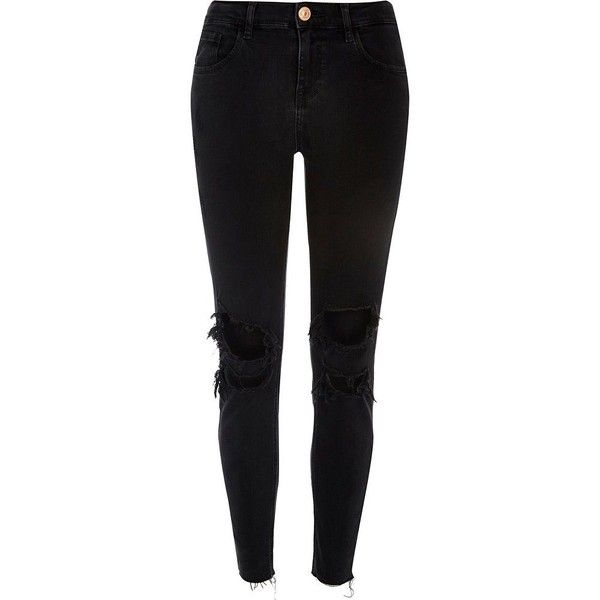 womens black relaxed skinny jeans