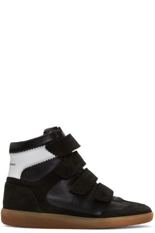 b132f63461a Isabel Marant - Black Suede Bilsy Wedge Sneakers | Clothes & shoes ...