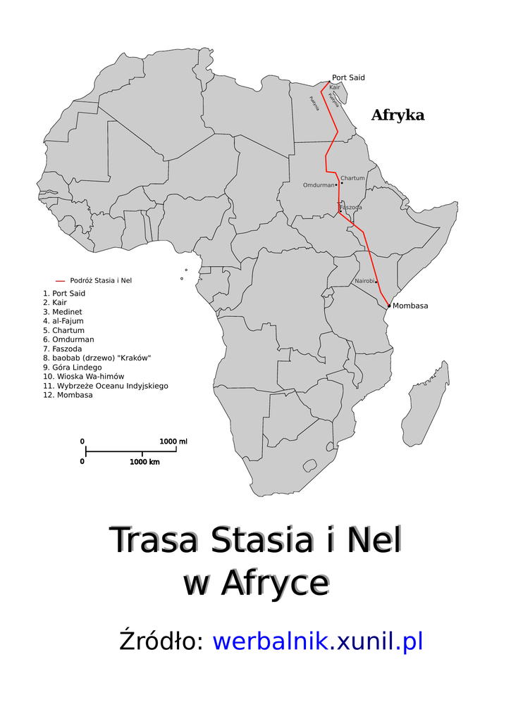 Trasa Stasia I Nel W Afryce Trasa Stasia I Nel W Afryce Map Mombasa