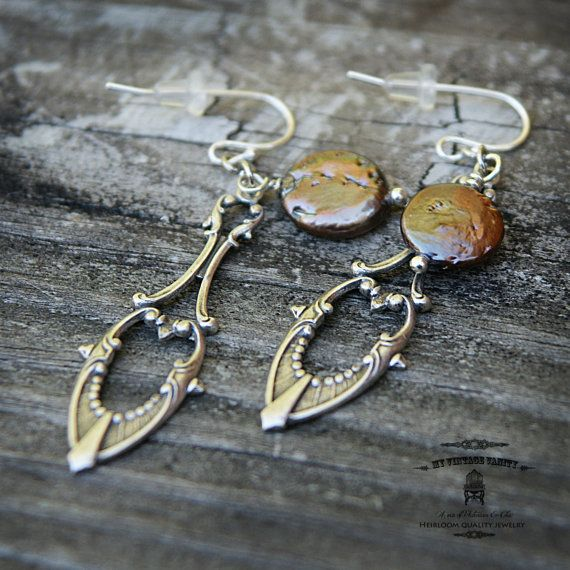 Victoria Medieval Earrings by MyVintageVanity on Etsy